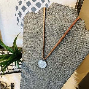 Jewelry - Leather Coin Necklace